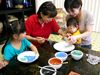 Experience of painting pottery