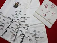 若女将手描きの訪問着と帯