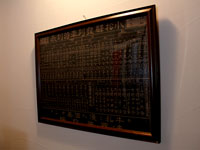 レトロな昭和初期の尾小屋鉄道時刻表