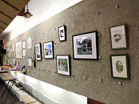 Gallery on wall