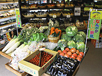 豊富な地物野菜