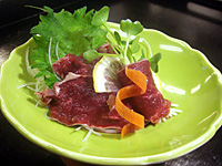 Sashimi of the deer