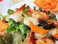 Sea foods roasted