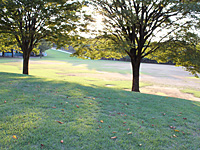 夕暮れ時の粟津公園